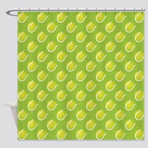 Tennis Balls Shower Curtain