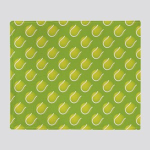 Tennis Balls Throw Blanket
