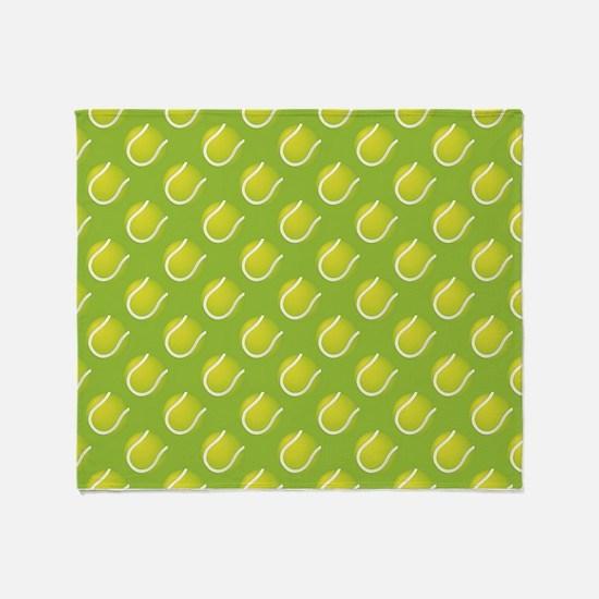 Tennis Balls Throw Blanket