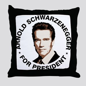 Arnold For President Throw Pillow