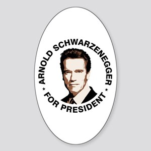 Arnold For President Oval Sticker