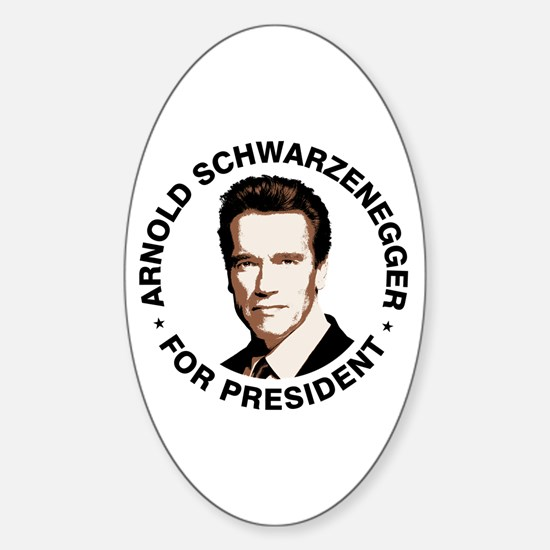 Arnold For President Oval Bumper Stickers