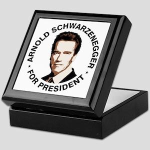 Arnold For President Keepsake Box