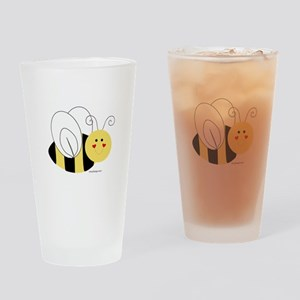 Cute Bee Drinking Glass