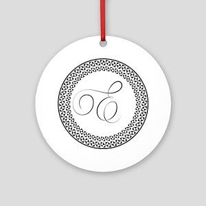 E Monogram Ornament (round)