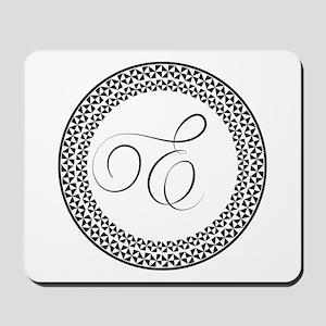 E Monogram Mousepad