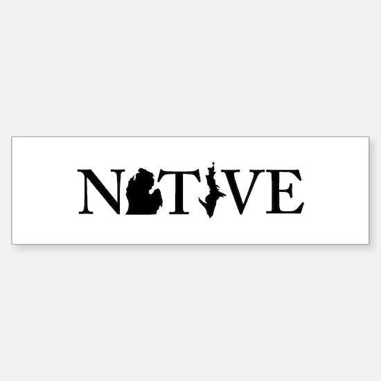 Native MI Bumper Bumper Bumper Sticker