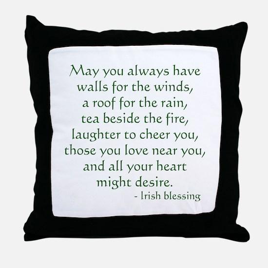 Irish Blessing 1 Throw Pillow