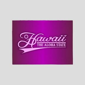 Hawaii State of Mine 5'x7'Area Rug