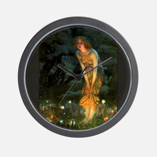 Fairy Circle Fairies Midsummer Eve Wall Clock