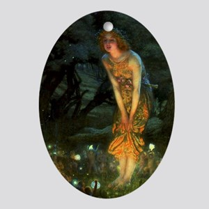 Fairy Circle Fairies Midsummer Eve Ornament (Oval)