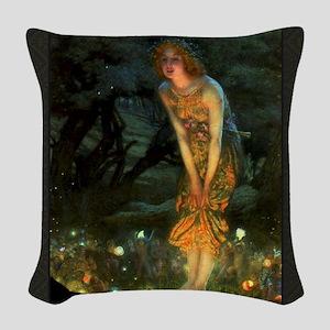 Fairy Circle Fairies Midsummer Eve Woven Throw Pil