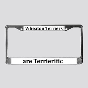 Wheaties Are Terrierific License Plate Frame