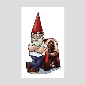 Retro Gnome Rectangle Sticker