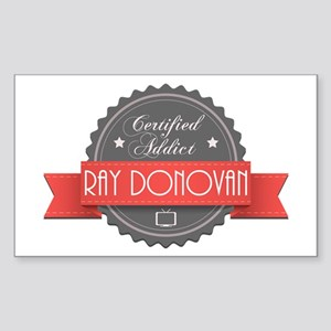 Certified Ray Donovan Addict Rectangle Sticker