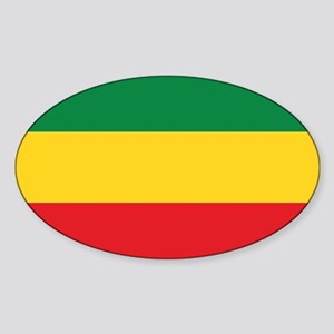 Green, Gold and Red Flag Sticker