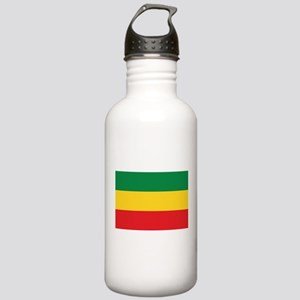 Green, Gold and Red Flag Sports Water Bottle