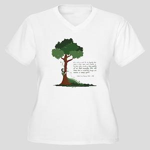 Tree Spirit Women's Plus Size V-Neck T-Shirt