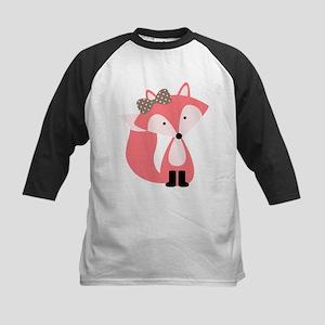 Cute Pink Fox Baseball Jersey