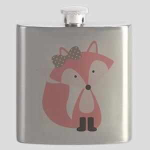 Cute Pink Fox Flask
