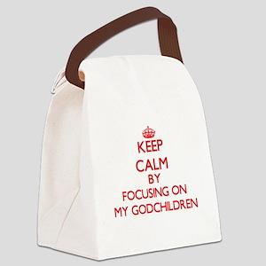 Keep Calm by focusing on My Godch Canvas Lunch Bag