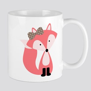 Cute Pink Fox Mugs
