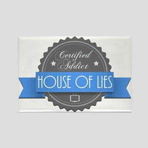 Certified House of Lies Addict Rectangle Magnet