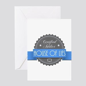 Certified House of Lies Addict Greeting Card