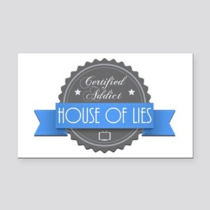 Certified House of Lies Addict Rectangle Car Magne