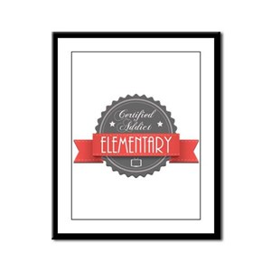 Certified Elementary Addict Framed Panel Print