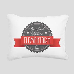 Certified Elementary Addict Rectangular Canvas Pil