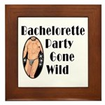 Bachelorette Party Gone Wild Framed Tile