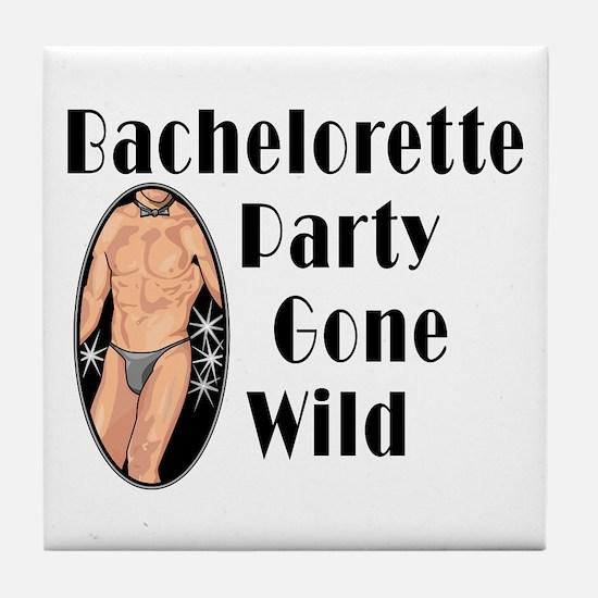 Bachelorette Party Gone Wild Tile Coaster