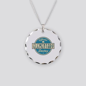 Offical Elementary Fanboy Necklace Circle Charm
