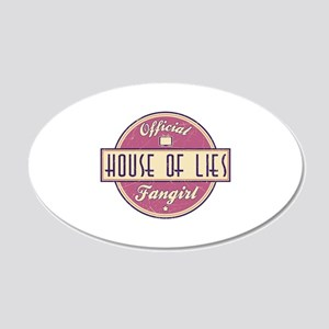 Offical House of Lies Fangirl 22x14 Oval Wall Peel