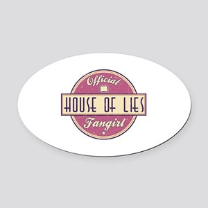 Offical House of Lies Fangirl Oval Car Magnet