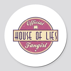 Offical House of Lies Fangirl Round Car Magnet