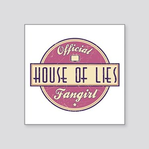 """Offical House of Lies Fangirl Square Sticker 3"""" x"""
