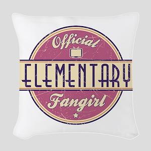 Offical Elementary Fangirl Woven Throw Pillow