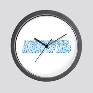 I'd Rather Be Watching House of Lies Wall Clock
