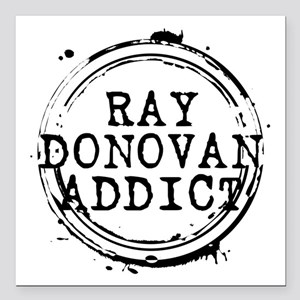 "Ray Donovan Addict Stamp Square Car Magnet 3"" x 3"""