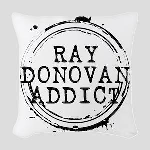 Ray Donovan Addict Stamp Woven Throw Pillow