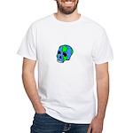 Skull Earth White T-Shirt