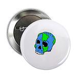 Skull Earth Button