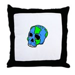 Skull Earth Throw Pillow