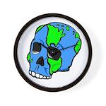Skull Earth Wall Clock