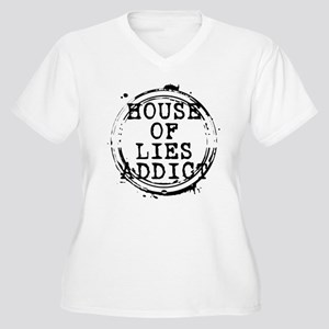 House of Lies Addict Stamp Women's Plus Size V-Nec