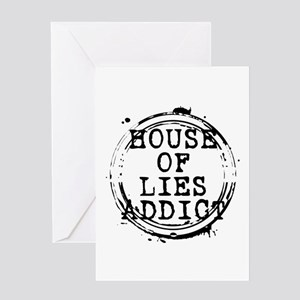 House of Lies Addict Stamp Greeting Card