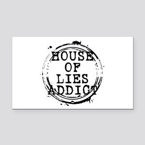 House of Lies Addict Stamp Rectangle Car Magnet