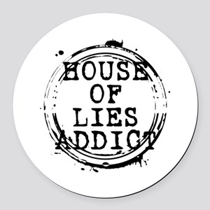 House of Lies Addict Stamp Round Car Magnet